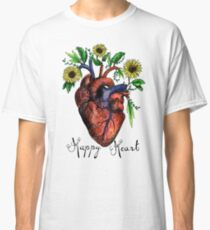 Happy Heart Watercolor Sticker and Shirt Classic T-Shirt