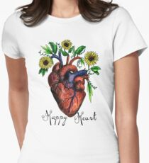 Happy Heart Watercolor Sticker and Shirt T-Shirt