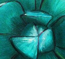 blue-green Sticker