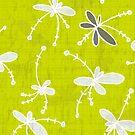 Flutterflower Green by aDanidesign