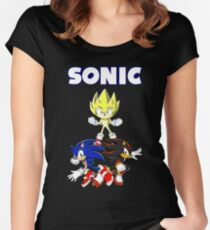 TEAM SONIC TSHIRT Women's Fitted Scoop T-Shirt