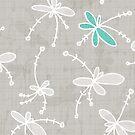 Flutterflower Light Grey by aDanidesign