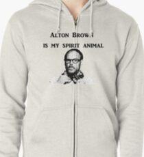 Alton Brown Is My Spirit Animal Zipped Hoodie