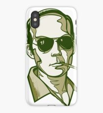 Hunter S. Thompson green iPhone Case/Skin