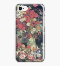 Vincent Van Gogh - Vase With Poppies, Cornflowers, Peonies And Chrysanmums, 1886 iPhone Case/Skin