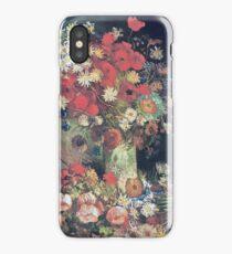 Vincent Van Gogh - Vase With Poppies, Cornflowers, Peonies And Chrysanmums, 1886 iPhone Case/Skin