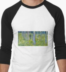 Vincent Van Gogh - Undergrowth With Two Figures, 1890  Men's Baseball ¾ T-Shirt