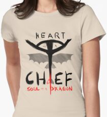 HEART of a CHIEF, SOUL of a DRAGON Womens Fitted T-Shirt