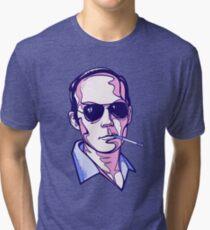 Hunter S. Thompson violet Tri-blend T-Shirt