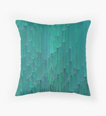 Teal Scales Throw Pillow