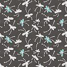 Flutterflower Dark Grey by aDanidesign