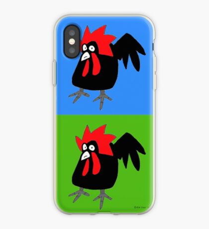 Funky and Cute Chicken Pop Art iPhone Case