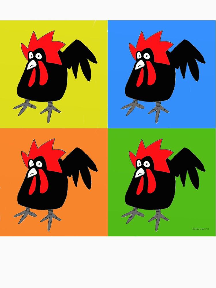 Funky and Cute Chicken Pop Art by eddcross