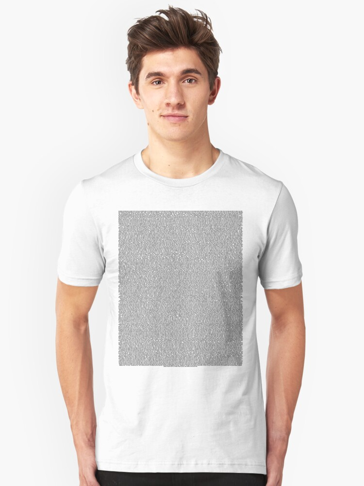 Alternate view of Bee Movie Script (Updated: Check Description For Details) Slim Fit T-Shirt