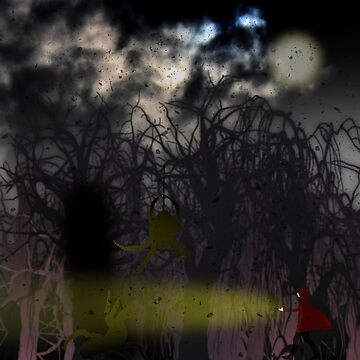 A walk in the woods at full moon by trum