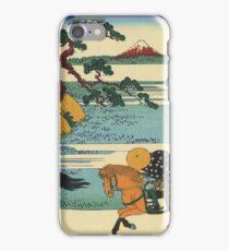 Hokusai Katsushika - Barrier Town on the Sumida River iPhone Case/Skin