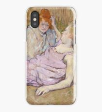 Henri De Toulouse Lautrec The Sofa 1896  iPhone Case/Skin