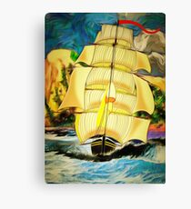 A Clipper Ship Sailing Out of Gibraltar Canvas Print