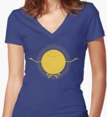 Sun Worshipper Women's Fitted V-Neck T-Shirt