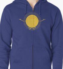 Sun Worshipper Zipped Hoodie