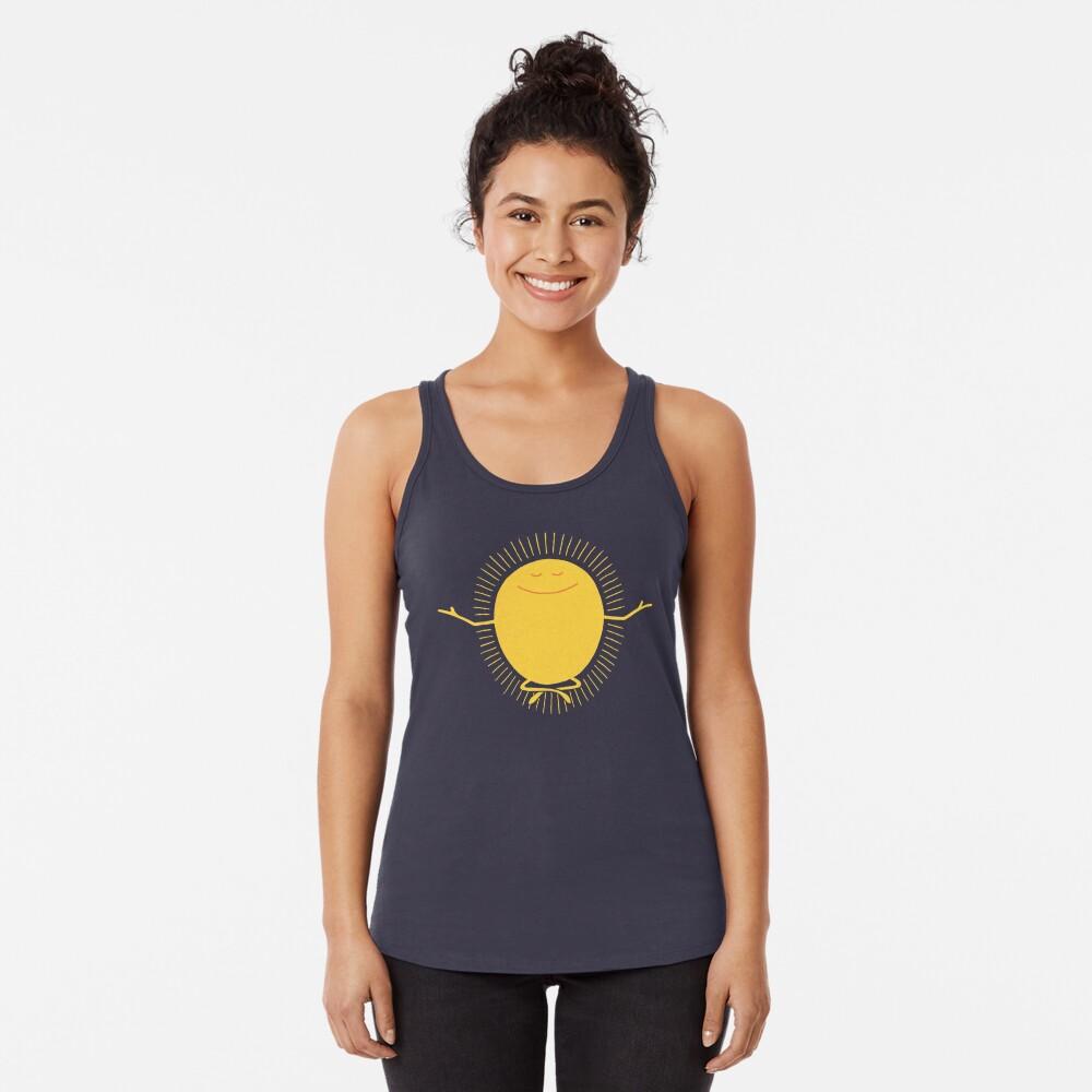 Adorador del sol Camiseta con espalda nadadora