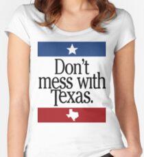 Verwirren Sie nicht mit Texas Tailliertes Rundhals-Shirt