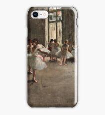 Edgar Degas - The Rehearsal ( 1873 - 1878)  iPhone Case/Skin