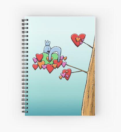 Cute Koala Sleeping on Hearts Spiral Notebook