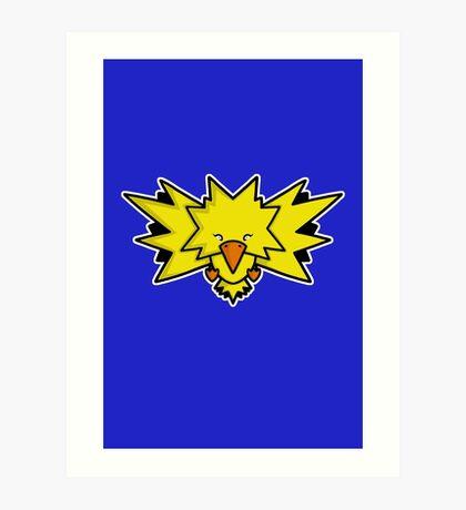 Super Cute Legendary Bird - Team Yellow Art Print