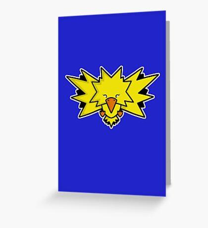 Super Cute Legendary Bird - Team Yellow Greeting Card
