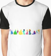 11 Princesses Inspired Silhouette Graphic T-Shirt