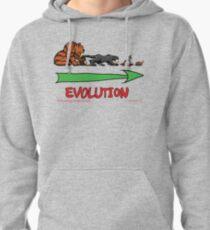 Evolution of human -feline relationships Pullover Hoodie