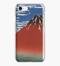 Hokusai Katsushika - Red Fuji southern wind clear morning iPhone Case/Skin