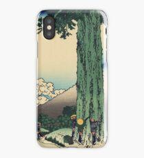 Hokusai Katsushika - Mishima Pass in Kai Province iPhone Case/Skin