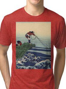 Hokusai Katsushika - Kajikazawa in Kai Province Tri-blend T-Shirt
