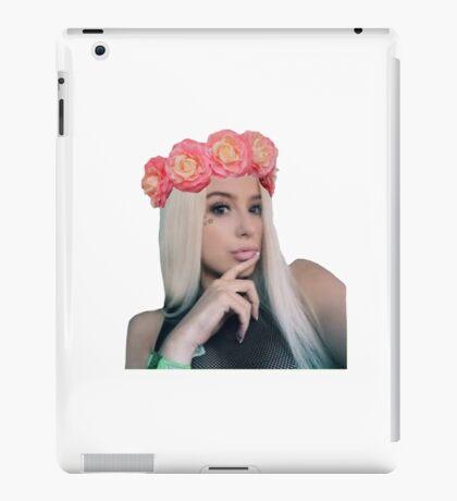 Tana Mongeau Flower Crown (#1)  iPad Case/Skin