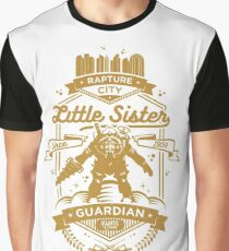 Little Sister Protector Gold Graphic T-Shirt