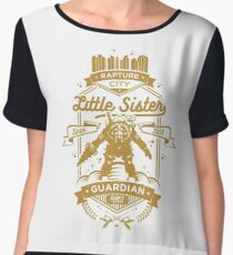 Little Sister Protector Gold Chiffon Top