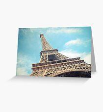 la tour Eiffel - monument de Paris, France Greeting Card