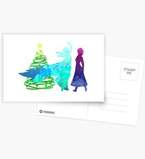 Christmas Sisters Inspired Silhouette Postcards