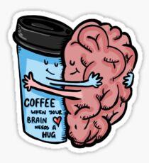 Pegatina Coffee- Brain Dead
