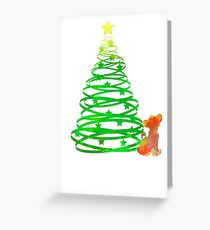 Christmas Lion Cub Inspired Silhouette Greeting Card