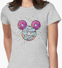Pop Donut -  Berry Frosting Womens Fitted T-Shirt