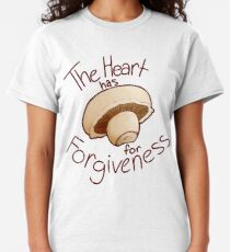 The heart has mushroom for forgiveness Classic T-Shirt