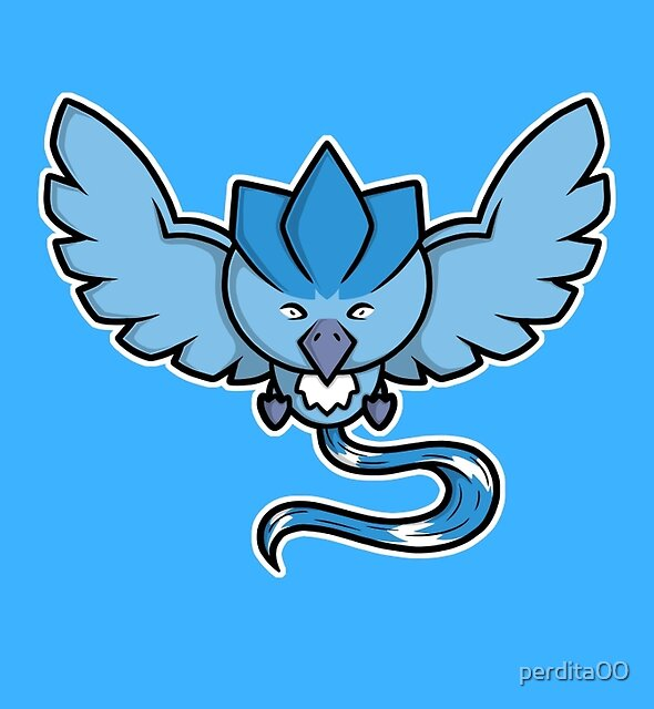 Super Cute Legendary Bird - Team Blue by perdita00