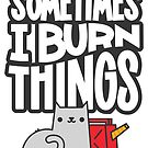 Sometimes I Burn Things Cat by Blake Stevenson
