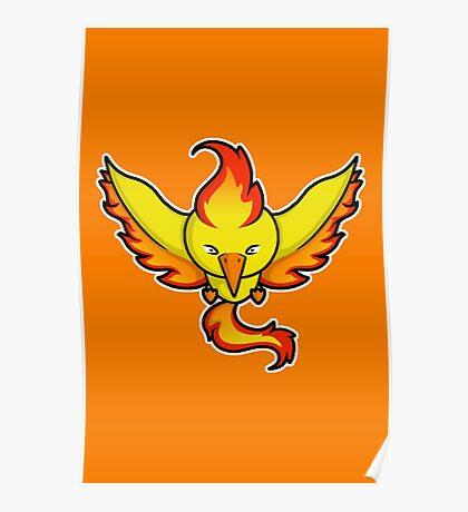 Super Cute Legendary Bird - Team Red Poster