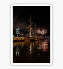 New year eve Fireworks in Hobart Tasmania  Sticker