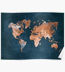 world map 15 Poster