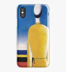 Kazemir Malevich - Half-Figure In Yellow Shirt iPhone Case/Skin